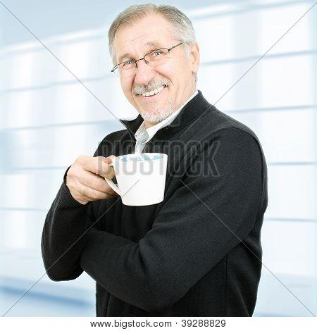Senior Businessman Taking A Break