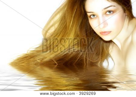 Beautiful Girl With Long Amazing Hair