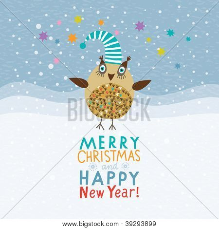 Christmas and New Year's card
