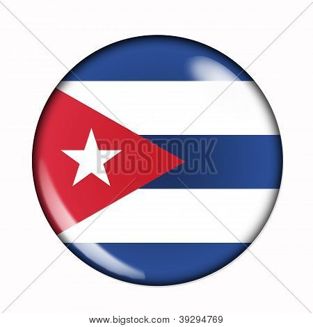 Button Flag Of Cuba