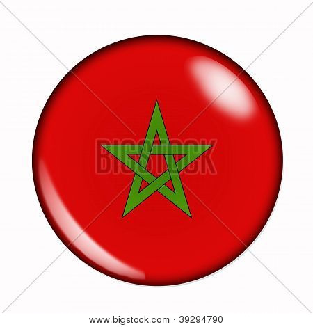 Button Flag Of Morocco