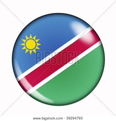 Button Flag Of Namibia