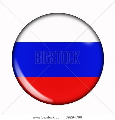 Button Flag Of Russia