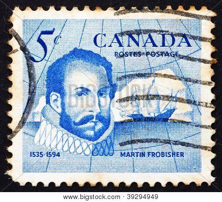 Postage stamp Canada 1963 Sir Martin Frobisher, Explorer
