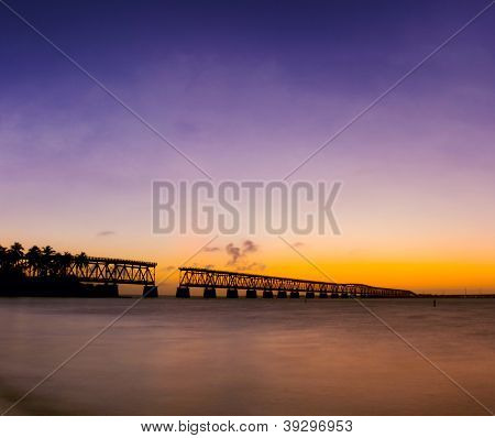 sunset at Bahia Honda state park in Florida