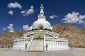 Shanti Stupa near Leh, Ladakh, India