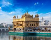 stock photo of sikh  - Sikh gurdwara Golden Temple  - JPG
