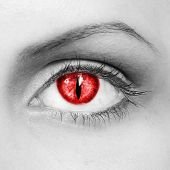picture of unnatural  - The woman red eye of the vampire - JPG