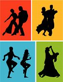 image of bolero  - Abstract vector illustration of latin american dancers - JPG