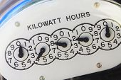 stock photo of electricity meter  - Close - JPG