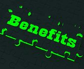 Benefits Puzzle Showing Monetary Compensation poster