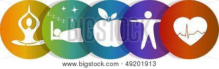 Health symbol rainbow