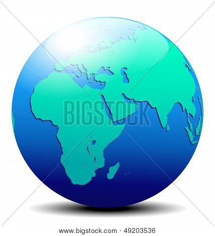 Africa, Arabia And India Global World