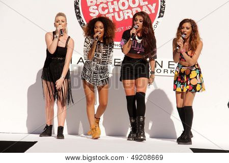 LOS ANGELES - AUG 9:  Perrie Edwards, Leigh-Anne Pinnock, Jesy Nelson, Jade Thirwall, Little Mix at the Teen Vogue's Event at the The Grove on August 9, 2013 in Los Angeles, CA