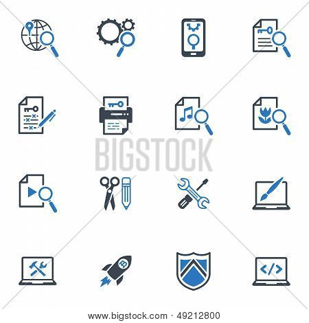 SEO & Internet Marketing Icons Set 1- Blue Series