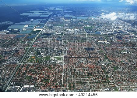 Areal view of Miami, Florida