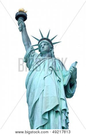 Statue of Liberty on Liberty Island in New York City