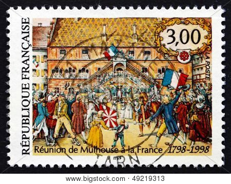 Postage Stamp France 1998 Union Of Mulhouse With France