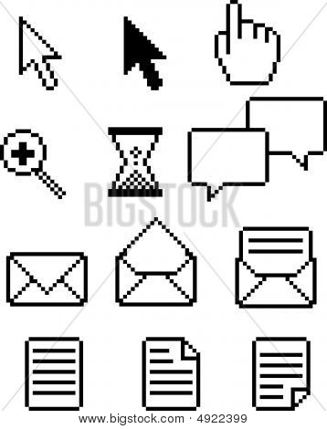 Set Of Retro Pixel Icons