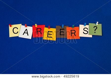 Careers - Sign Series For Business Terms.