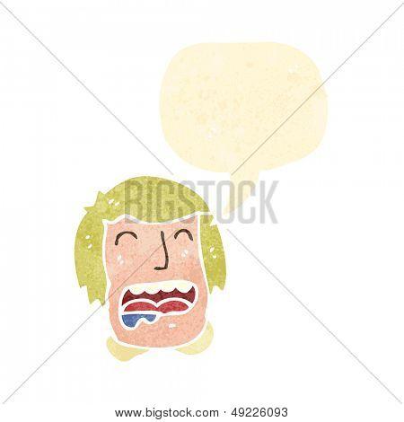 retro cartoon drooling man