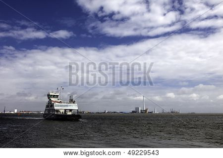 Ferry From Esbjerg To Fano In The Danish Wadden Sea