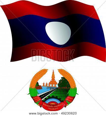 Laos Wavy Flag And Coat