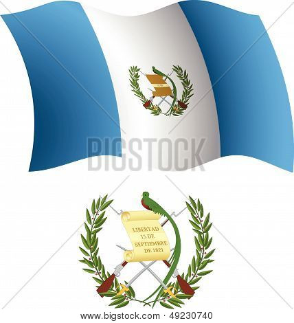 Guatemala Wavy Flag And Coat