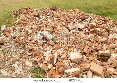 Pile Of Brick Wall