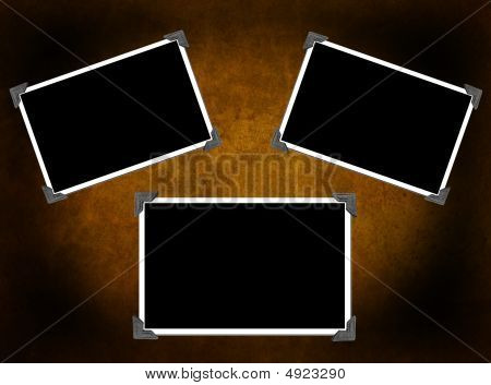 3 Blank Photo Frames