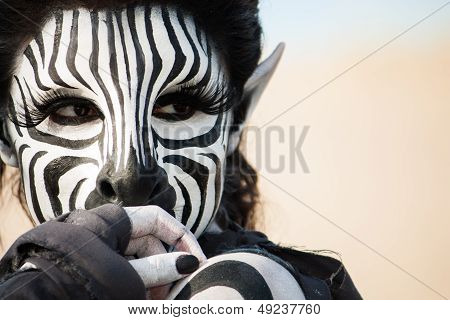 Beautiful Zebra Woman