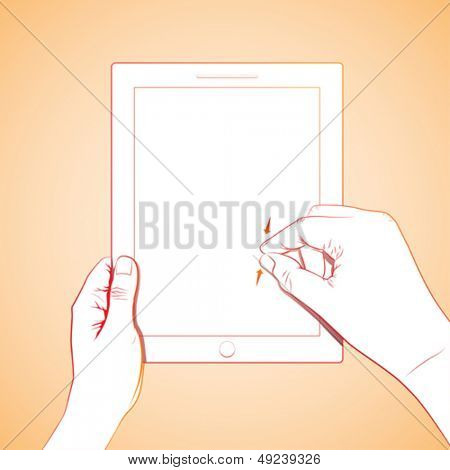 Hand Pinch 10 inch tablet