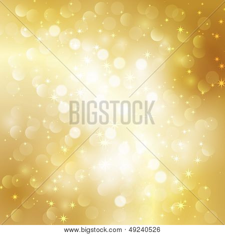 Holiday gold glitter background