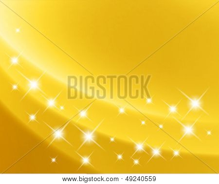 Holiday gold satin ripple background