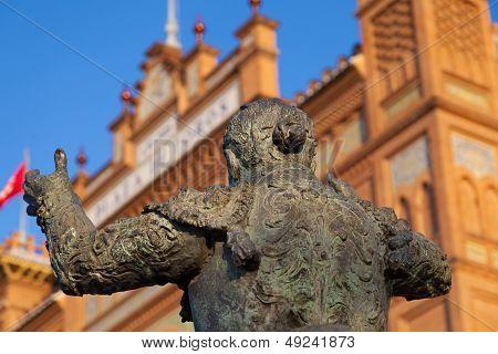 Bullfighter Sculpture In Las Ventas Bullring In Madrid