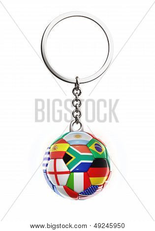 Keychain With Ball Flags