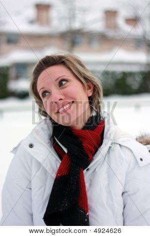 Having Fun On A Snowy Day