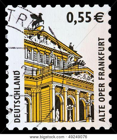 German Post Stamp