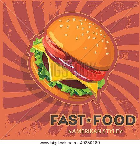 Burger. Ilustração em vetor Hamburger
