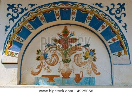 Ornaments In Monastery Wall