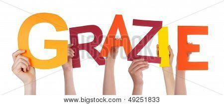 Hands Holding Grazie