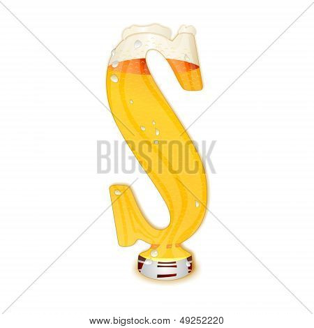 BEER ALPHABET letter S