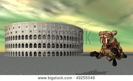 The Colosseum and Jumping Tiger