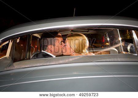 Bride And Groom Final Kiss