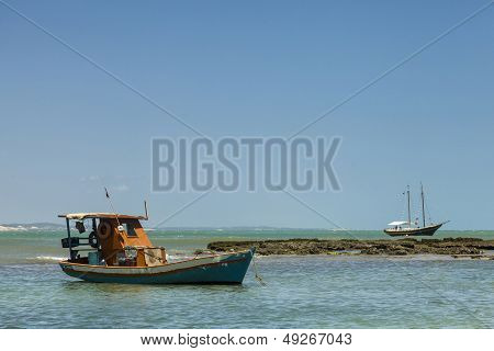 Boat On A Reef