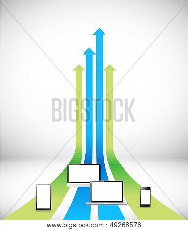 Set Of Electronics. Illustration Design