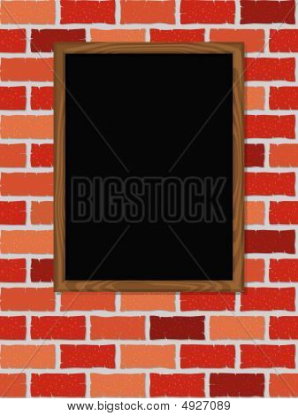 Blank Blackboard On Wall