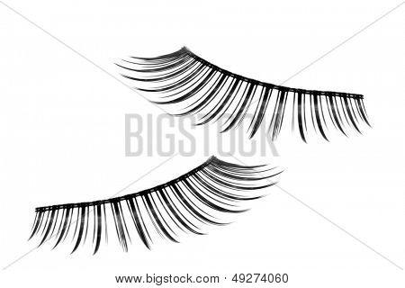 pair of fake false eyelash isolated on white