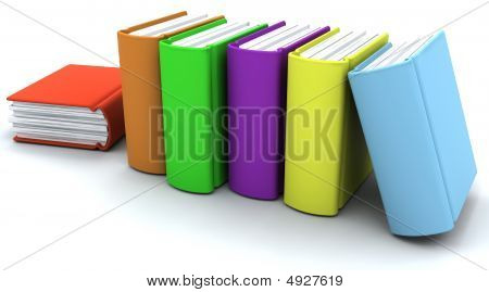 Caricature Of A Stack Of Books