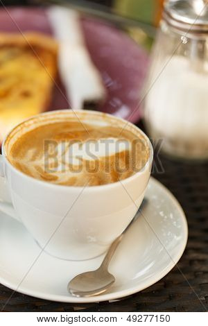 cappuccino on the table